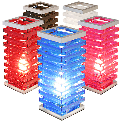 ll473 acrylic square spiral lamp 1 - Design Your Decorative Table Lamps and Lighten Up A corner