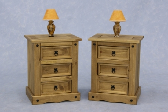 corona3drawerbedside - The Antique Bedside Cabinet, Style And Storage