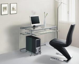 glass computer desk1 300x245 - Compute r Desk Design Ideas, Made Easy