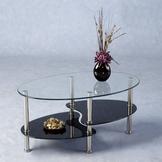CARA COFFEE TABLE CLEAR BLA - What Do I Need For My First Apartment