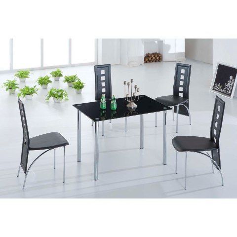 black glass dining set BasixJet4 - What Do I Need For My First Apartment