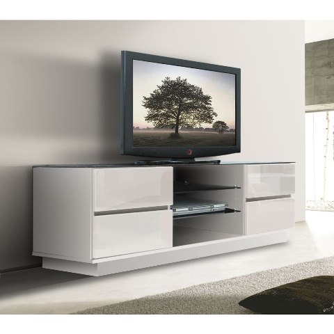 white gloss plasma tv stand eh708white - What Do I Need For My First Apartment