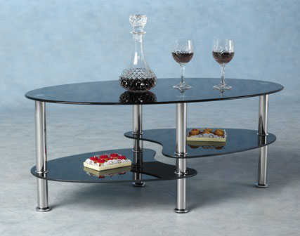 cara coffee table black - How To Furnish A House Cheaply
