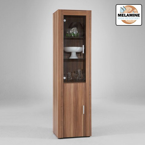 tall glass display cabinet 514 001 06 - How To Furnish A Small Living Room