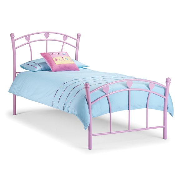pink metal kids bed 1 - How To Decorate A Doll House