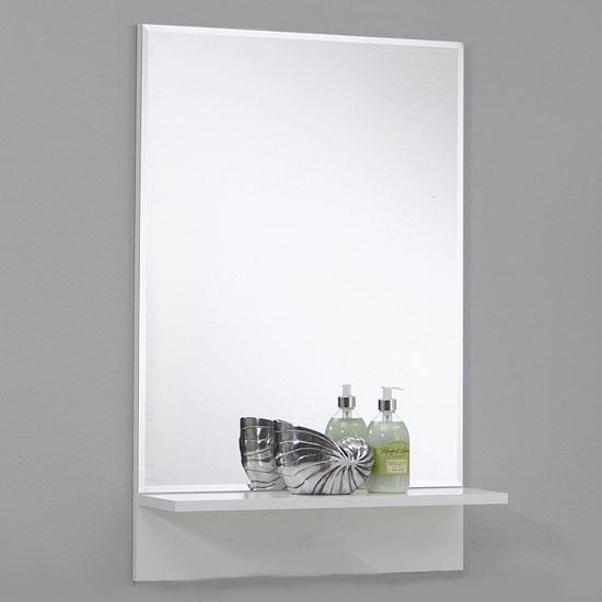 bathroom wall mirror white shelf 1 - How to Choose a Quality Mirror for Your Bathroom