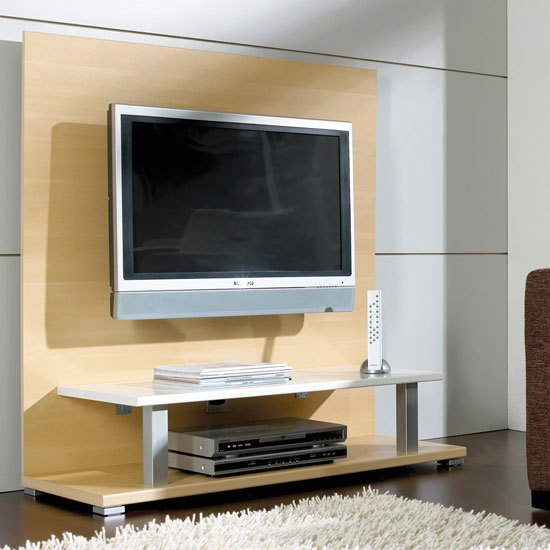 beech white tv stand 0390 70 1 - How to Build You Own TV Stand