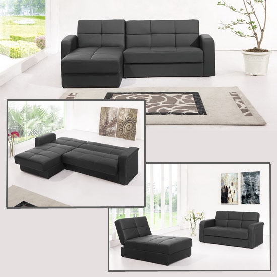corner sofa beds black floridaSofaBlk 1 - Tips To Decorate and Use Sectional Sofas