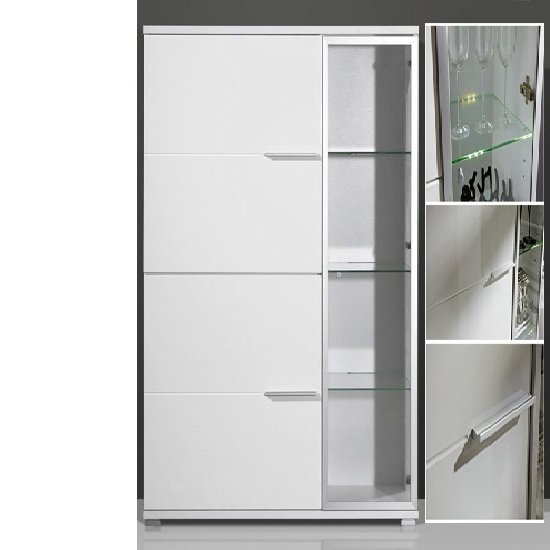 gloss white display cabinet 1520 84 1 - Exotic Interiors of Jewelry Stores And Shops