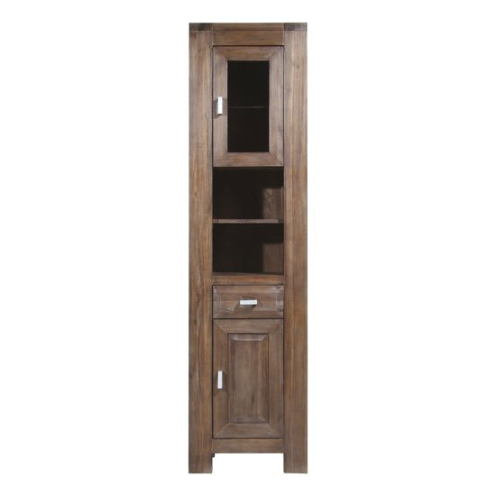 tall brown solid wood bath cabinet 1759 113 1 - Three Easy Bathroom Cabinet And Vanity Storage Solutions