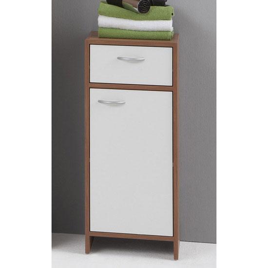 wooden floor cabinet madrid 2 1 - Three Easy Bathroom Cabinet And Vanity Storage Solutions