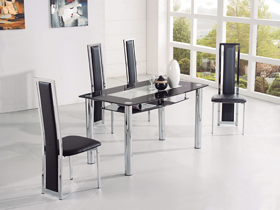 Rimini B Dining Table blk G 601 - Dining Tables - For Fine Dining Experiences