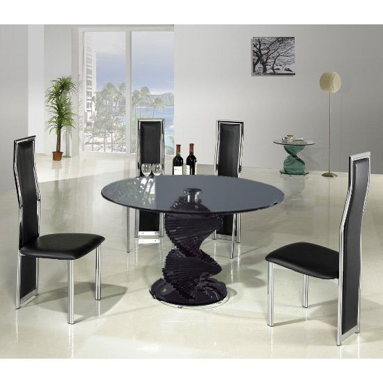 Swirl clear glass dining table 650 1 - Dining Tables Can Bring The Family Together