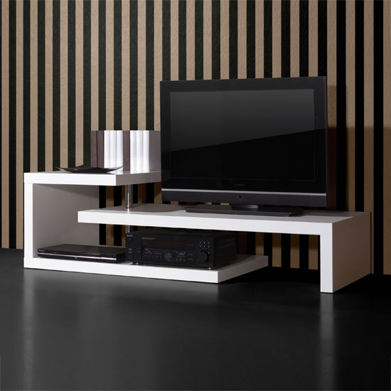 white high gloss furniture 0397 84 3 - Affordable TV Stands