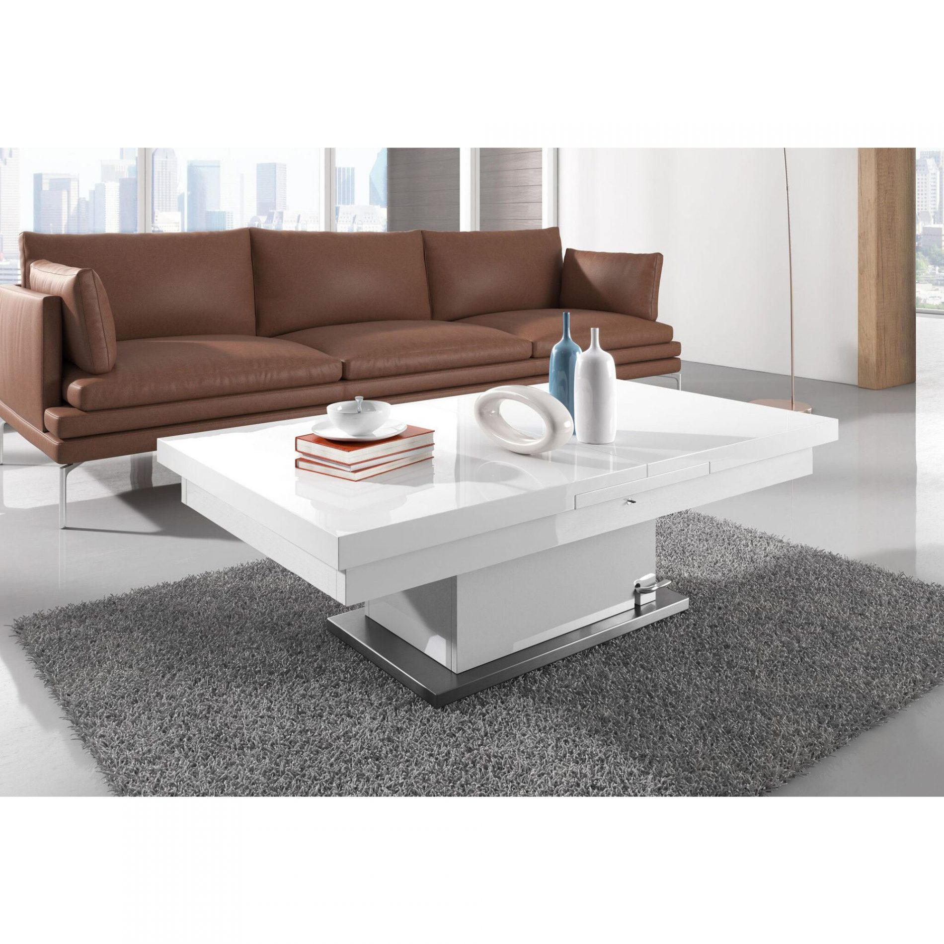 Why not make your home functional with coffee tables that convert into dining tables?