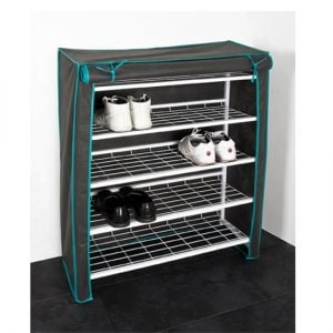 4 Tire Shoe Rack with Cover 38322 300x300 - Shoe rack with cover- Organize your home in style