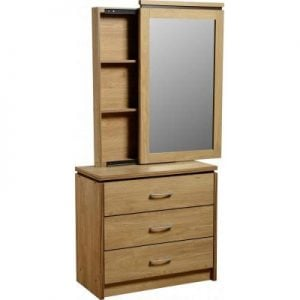 CHARLES 3 DRAWER DRESSING T1 300x300 - Buying Guide For Dressing Table With A Built-in Mirror