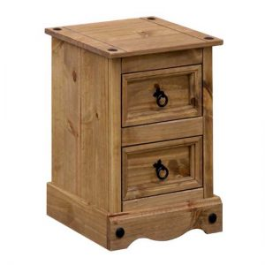 Corina 2 Drawer Petite Bedside Cabinet CR509 300x300 - Make your room functional with bedside cabinets with a door