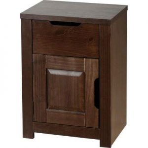 ECLIPSE BEDSIDE 1DRW 1DOOR 300x300 - Bedside Cabinets in Dark Wood Furniture