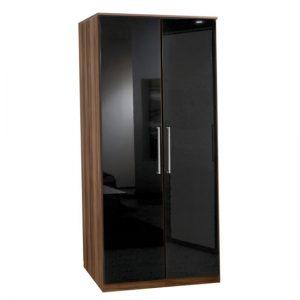 Gamma Walnut two door wardrobe 300x300 - Types of wardrobes in black