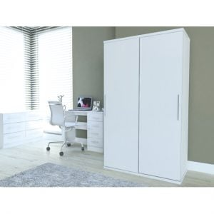 LUKA SLIDING ROBE WHITE REV4 300x300 - Corporate dual functionality in your room with wardrobes with computer desks
