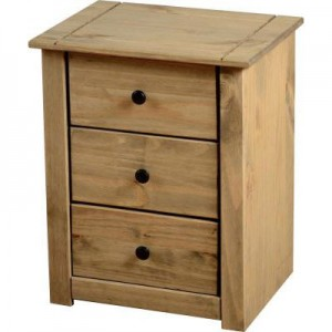 Bedside cabinet in oak provides a lot of opportunities to enhance a room
