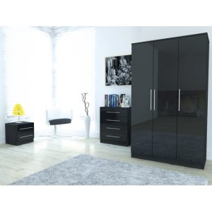 Toronto Black robe1 300x300 - Add dual functionality in your room with wardrobes with built in TV
