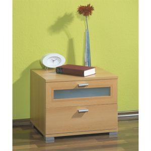 beech bedside table 3650 11 300x300 - Bedside mirrored cabinets in beech