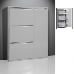 metal shoe cabinet 5266 74 300x300 - Make your home tidy with shoe rack with doors