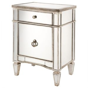 mirror bedside SOL 0026 300x300 - How to décor your bedroom with bedside cabinets in silver