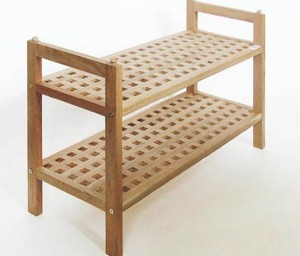 The idea of shoe rack for a porch