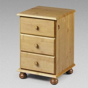 solid pine bedside table pickwick3DrBS 300x300 - Bedside cabinets for Hospital and nursing home