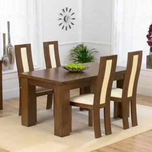 Barcelona Dark 150cm Table x 4 Havana Ivory 300x300 - Tips to consider when buying extendable wooden dining tables