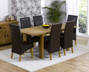 Add style and luxury in your home with extendable dining table with leather chairs