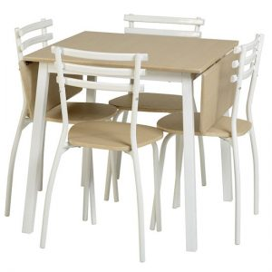 Langley  Dining Set 300x300 - Serve more people in a small space with an Extendable Dining Table with Four Chairs