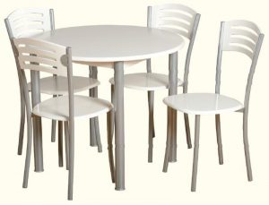 Laura Round Dining Set 300x229 - Use a round extendable dining table to save space in your dining room