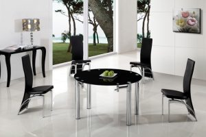 Maxi Ext Round Table blk G 501 300x200 - Add functionality in your small dining room with extendable circular dining table