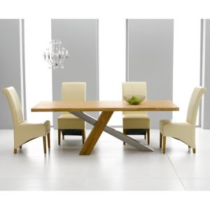 Montana 225cm and Barcelona Cream 300x300 - Make a style statement with an extendable oak dining table