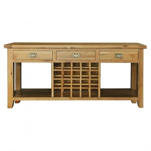 Console tables with wine rack- A classy décor item for your house