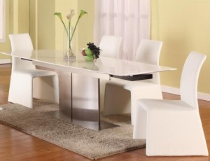How to find affordable extendable dining table in white?