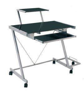 pad computer trolley black1 270x300 - Why computer desks with wheels are ideal for your office?