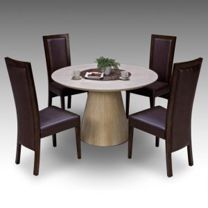 retro dining table elm chairs 300x300 - Add a chic style statement in your house with a retro extendable dining table