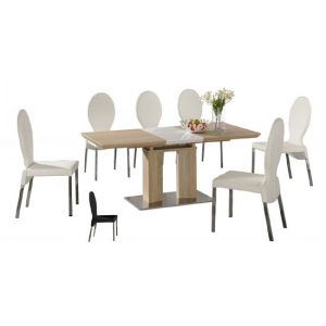 theo ext din tab 6 pu chair1 300x300 - Furnish the outdoors of your house with a stylish extendable outdoor dining table