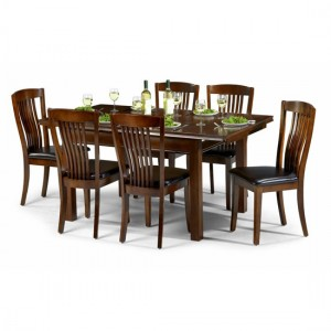 Add durability in your house with extendable mahogany dining table