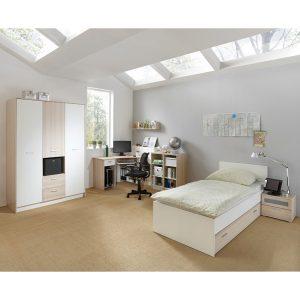 Madagaskar single bed 3door noside 300x300 - Latest Range of Bedroom Furniture in Modern Design