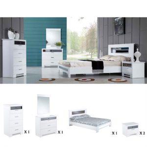 olivia WHITE ROOM SET 300x300 - Latest Designs in Modern White Bedroom Furniture
