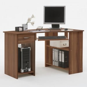 Cherry Wood Computer Desk with Drawers for More Storage