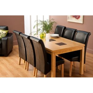 Lyon 1.2m Dining Table  6 Black Chairs LYON02 300x300 - Buy your dream dining table and chairs from dining room furniture sale