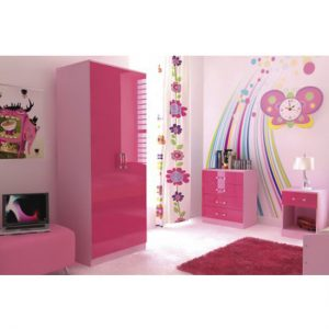 Ottawa 2 Tones 3 Piece Pink High Gloss Bedroom Set3 300x300 - Make Your Daughter's Dream Come True With Cheap Girls Bedroom Furniture Sets