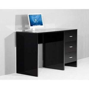 Sphere blk computer black gloss 300x300 - Rectangular Black Wood Computer Desk for Larger Spaces
